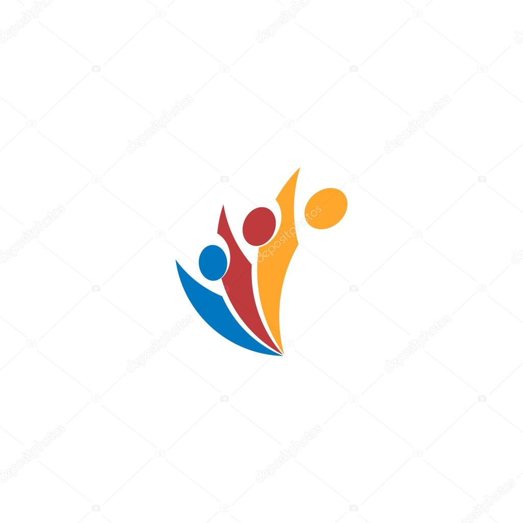 Isolated abstract colorful people vector logo human silhouette isolated abstract colorful people vector logo human silhouette logotype minimalistic illustration community sign sciox Gallery
