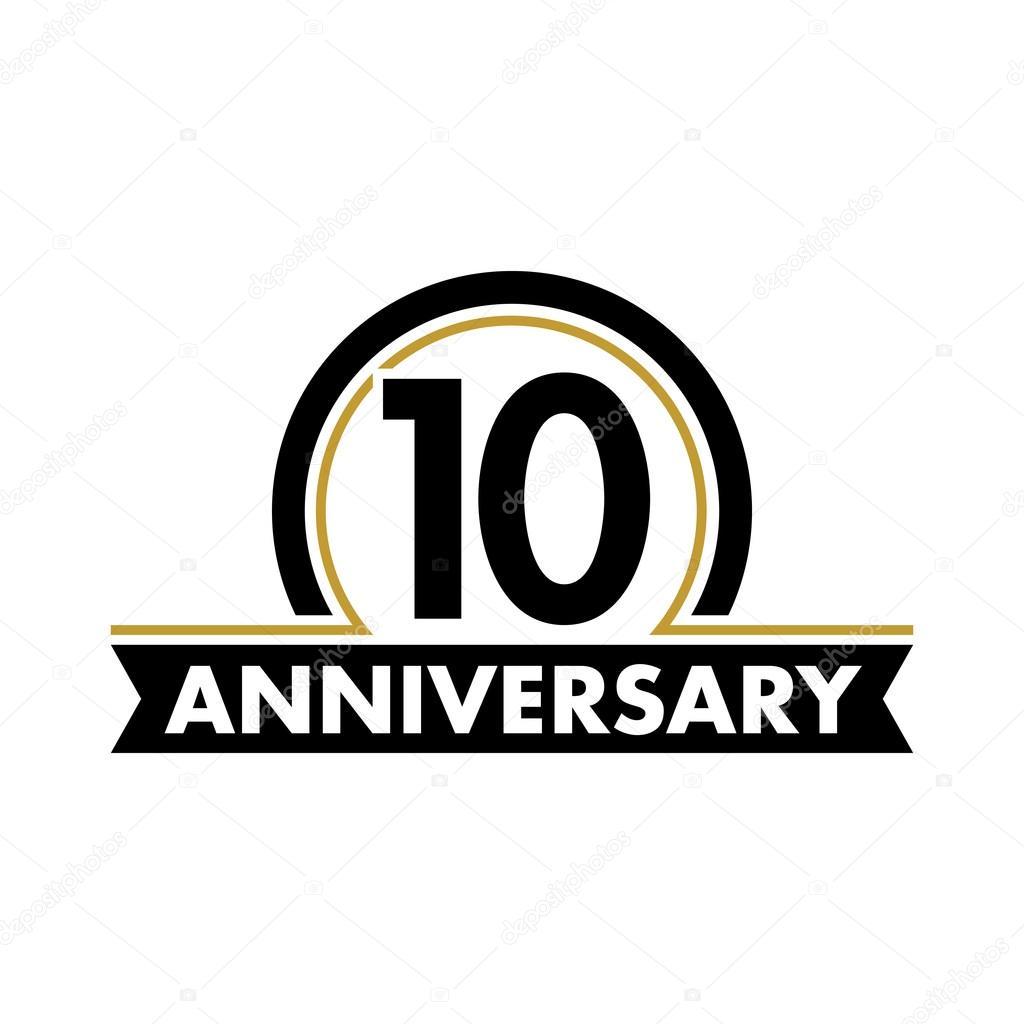 Anniversary Vector Unusual Label Tenth Anniversary Symbol 10 Years