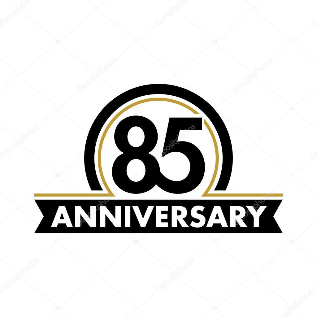 Anniversary Vector Unusual Label Seventieth Anniversary Symbol