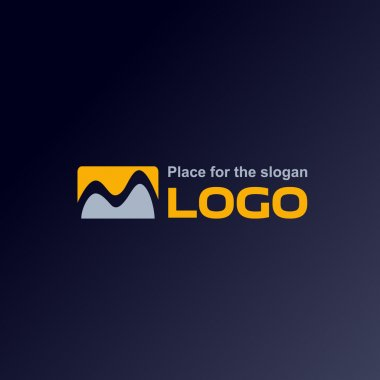 Logo. Vector. Abstract. M.