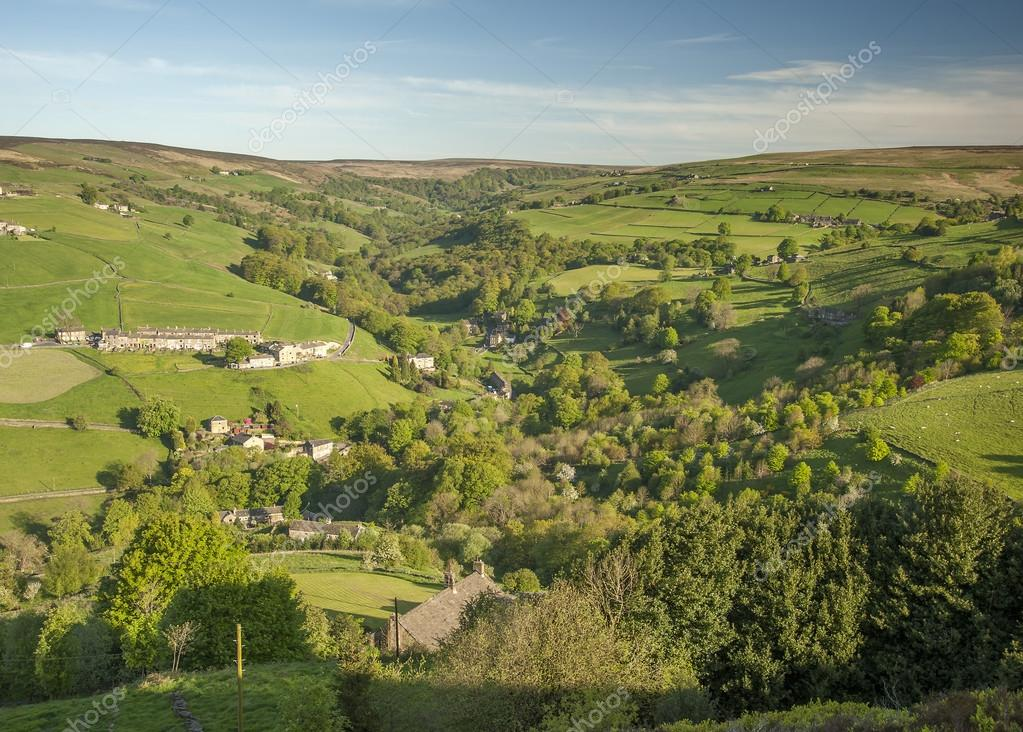 Beautiful wooded valley in the Yorkshire Dales