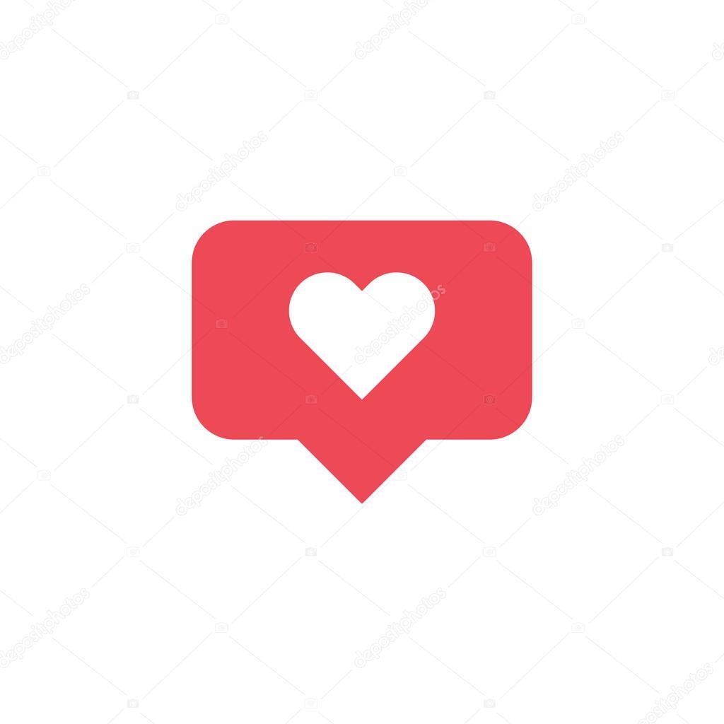 Like icon notification. Social media heart. Vector for web design. icon