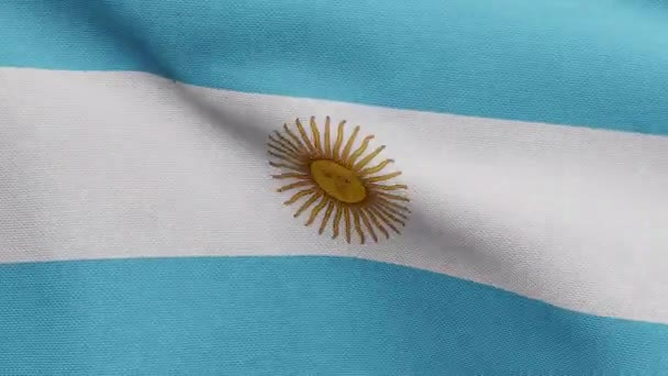 Argentinian flag waving in the wind. Close up of Argentine banner blowing, soft and smooth silk. Cloth fabric texture ensign background. Use it for national day and country occasions concept.-Dan