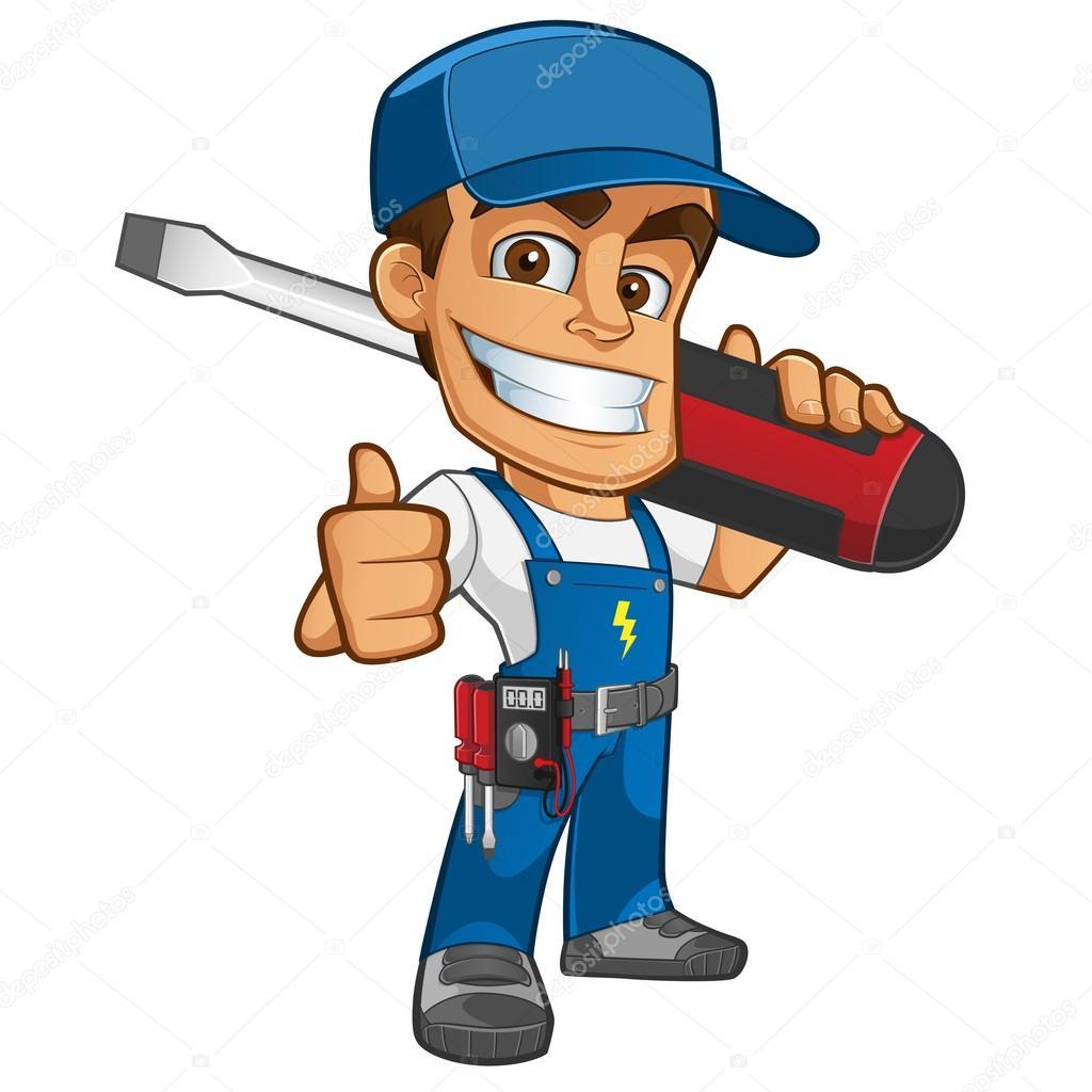 Electricista vector de stock vector5000 83665912 for Trabajo de electricista en malaga