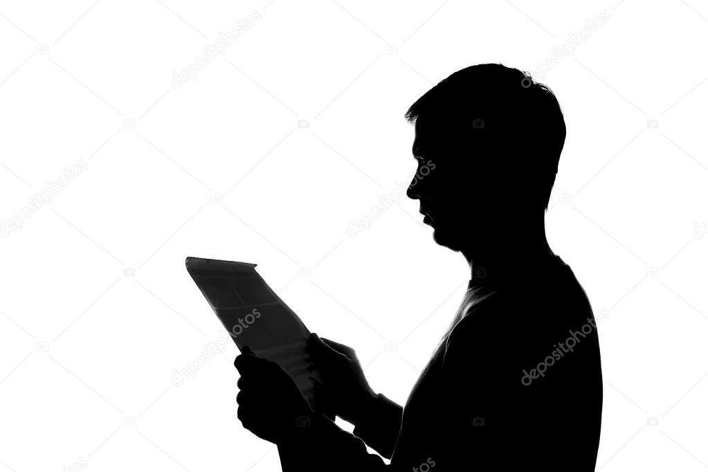 Joven Hombre Leyendo Un Libro
