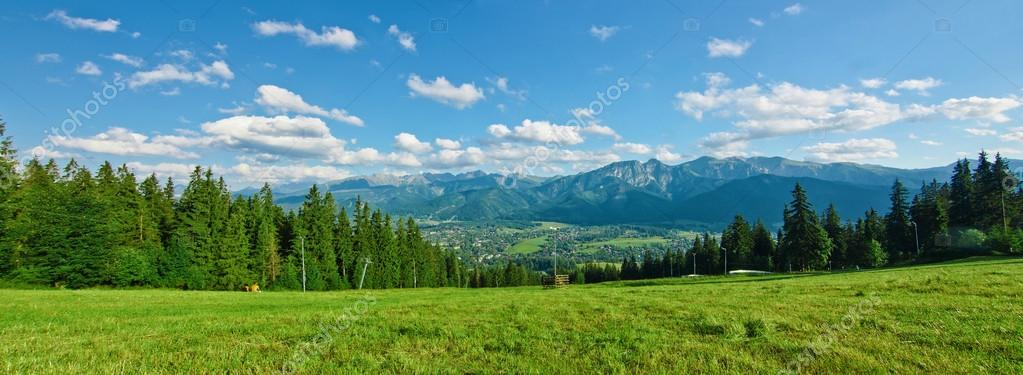 Panoramic view of Tatras