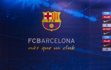 FC Barcelona Emblem at Camp Nou Stadium
