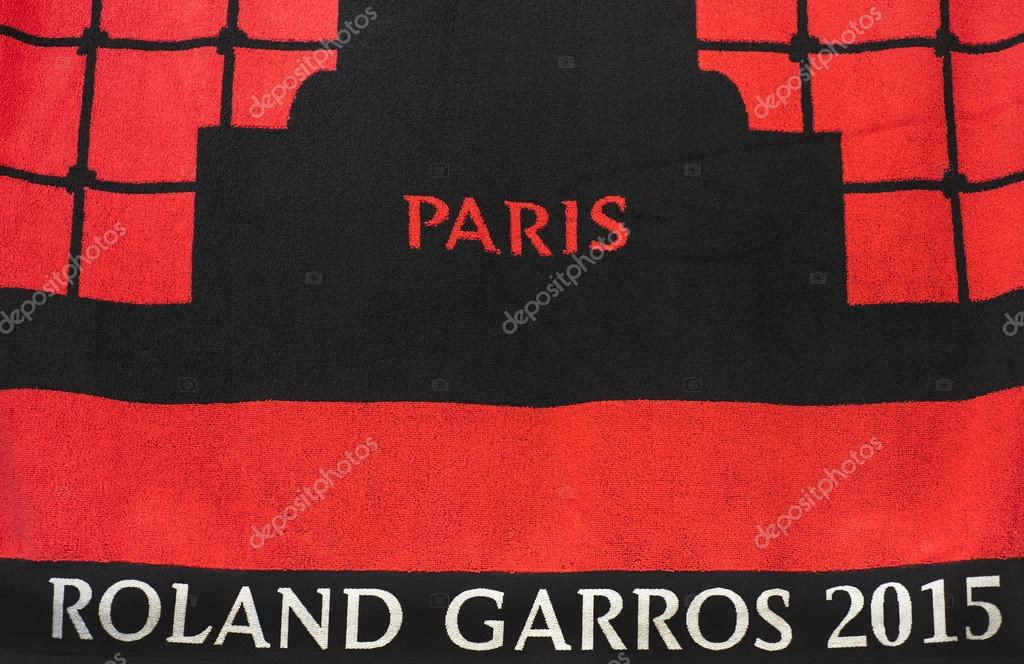 Roland Garros Handdoek.Official Towels Of Rolland Garros Stock Editorial Photo C Yorgy67