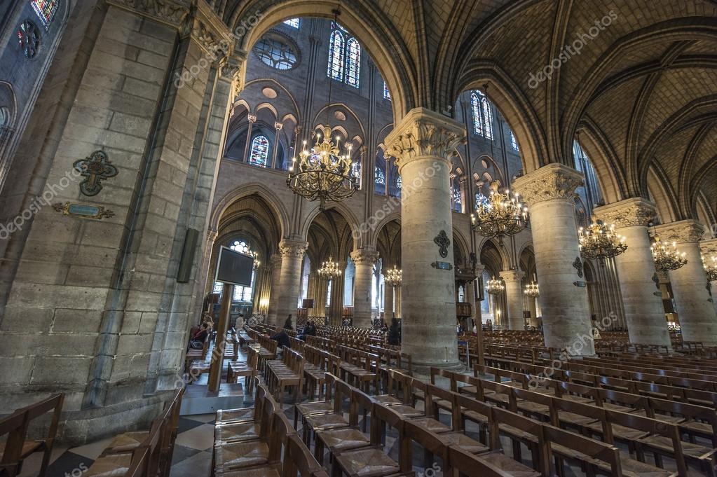 Resultado de imagen para la catedral de notre dame por dentro