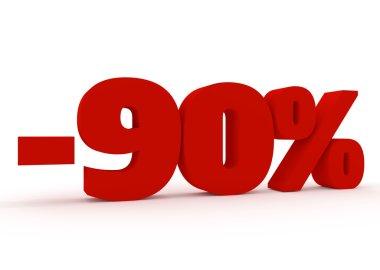 3D 90 percent sign