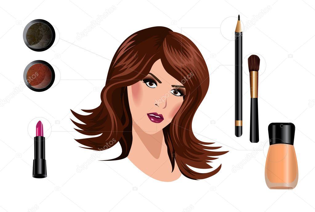Hoe Maak Je Een Mooie Vrouw Met Make Up Stockfoto Vkatrevich
