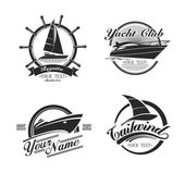 Fotografie Vintage icons yachts and sailboats