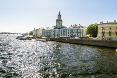Views on University embankment in Saint Petersburg