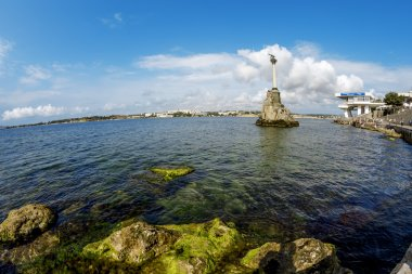 The monument to the scuttled ships in the port of Sevastopol. Cr