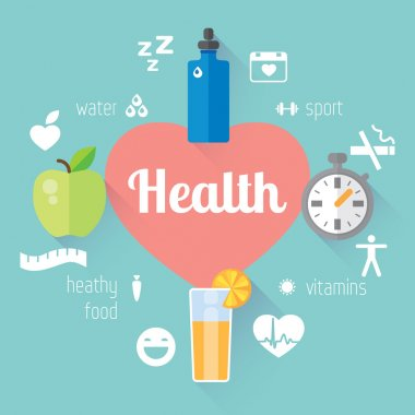 Healthy lifestyle  info graphic