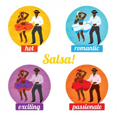 Salsa dancing poster for the party
