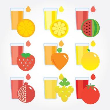 Set of fresh juices