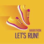 Kondiční běh a běh maratonu koncept