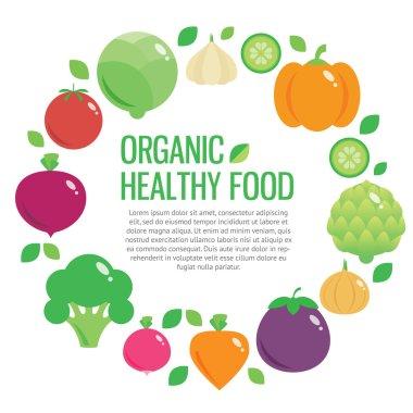 Healthy fresh organic food