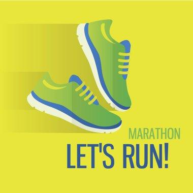 Jogging and running marathon concept