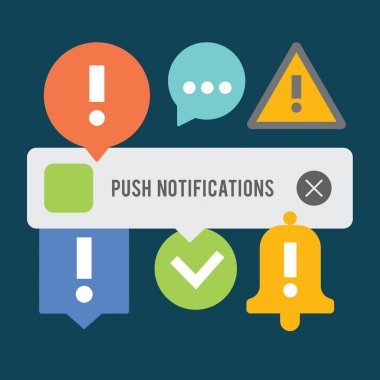 Push notifications elements set.