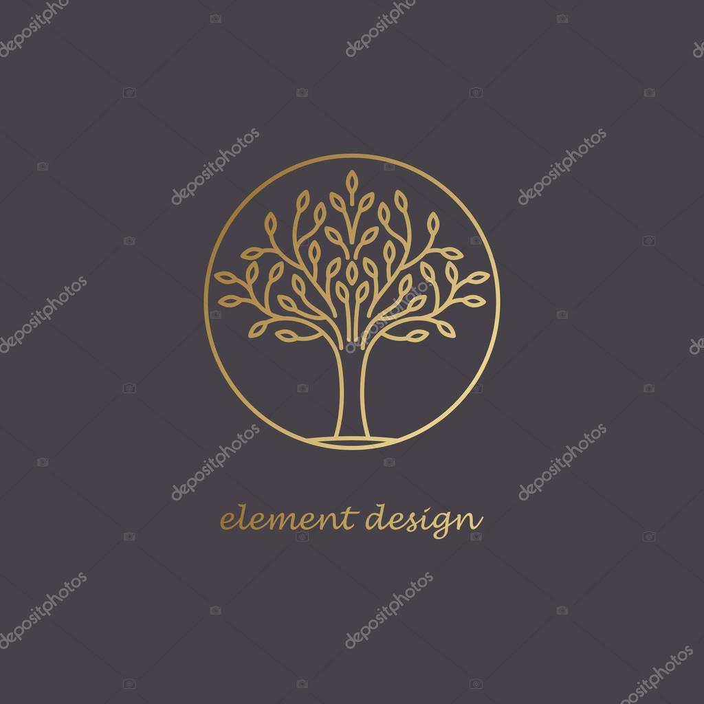 Decorative tree logo.