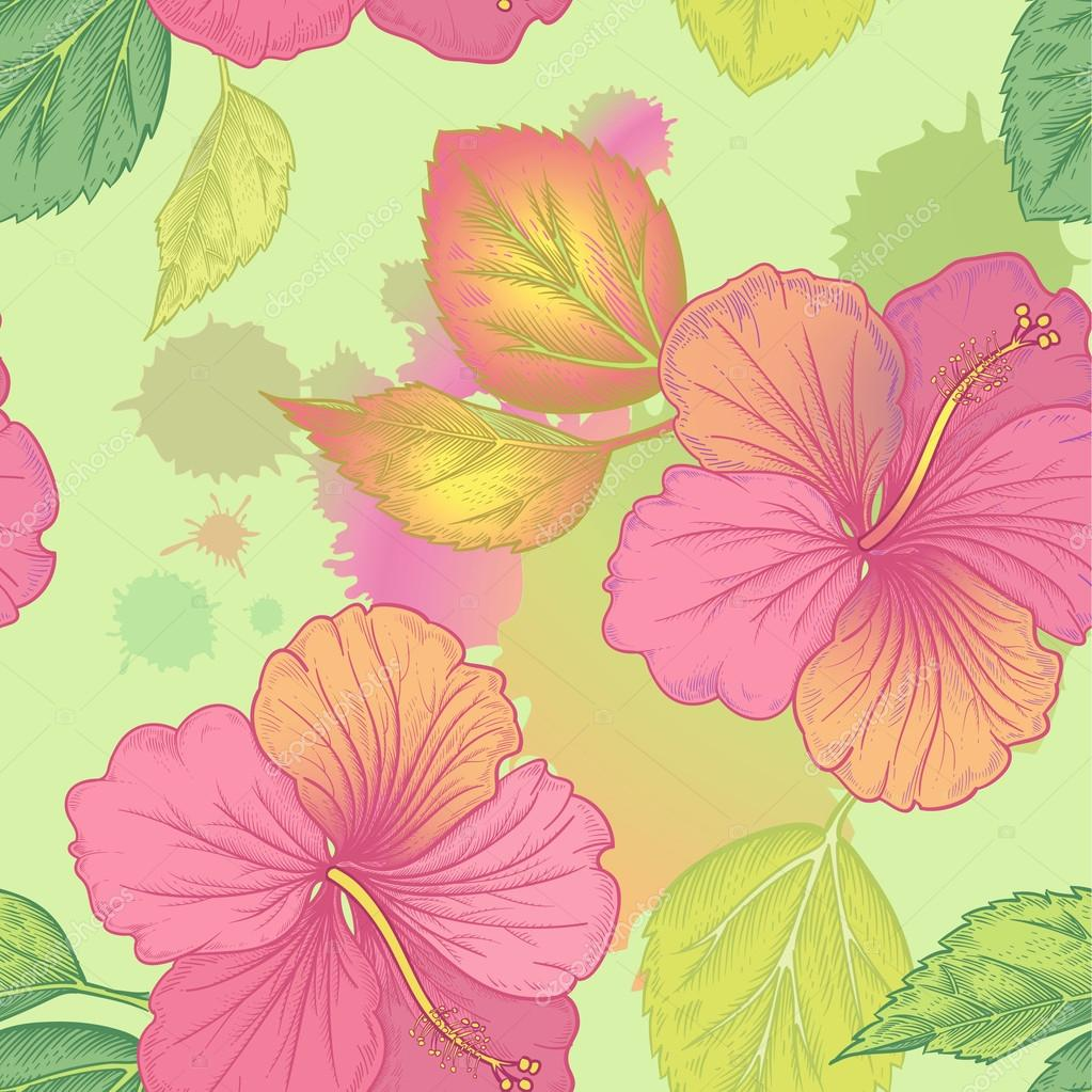 Vector seamless floral pattern.