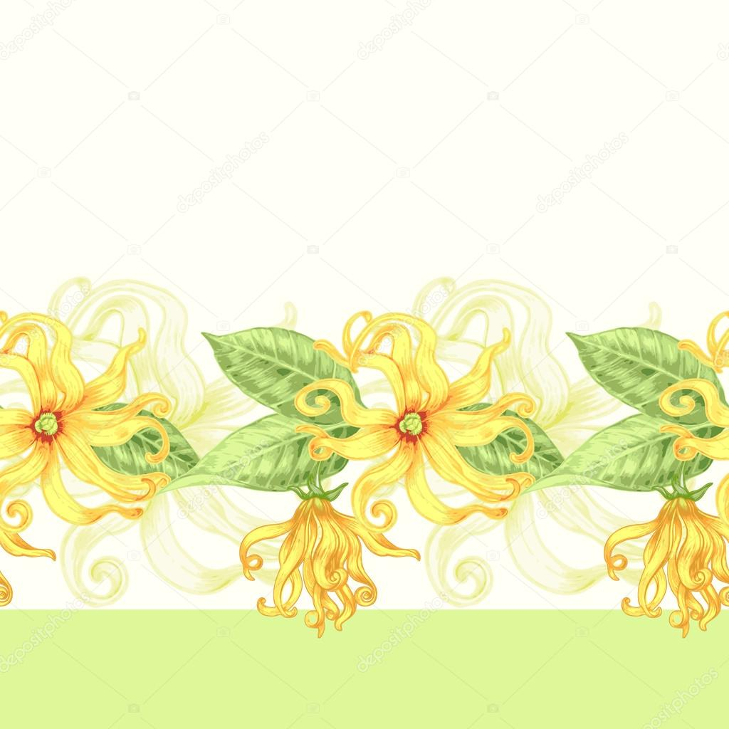 Seamless background with exotic flowers.