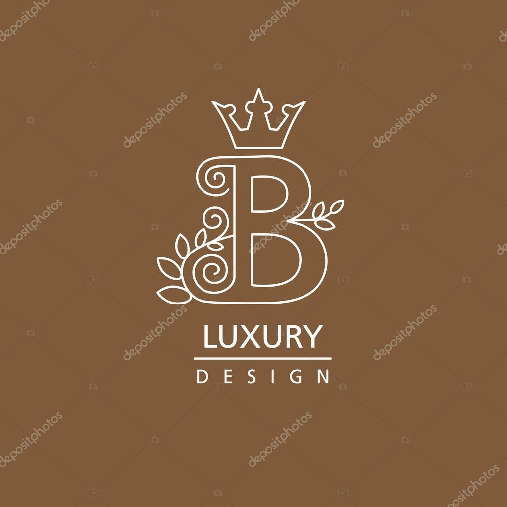 85 b logo with crown initial letter b with wings logo