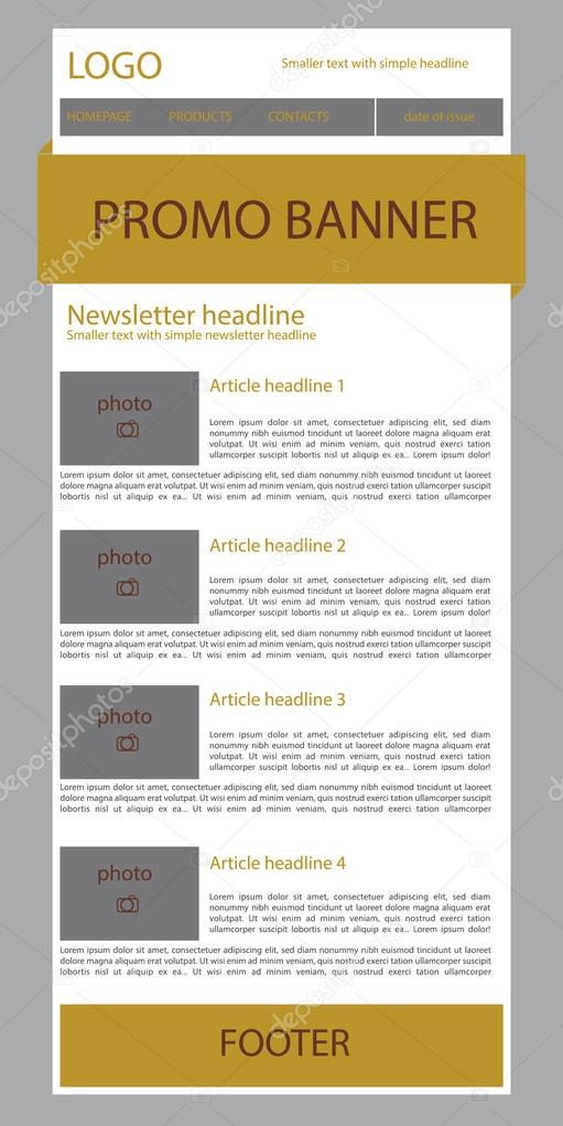 newsletter template for business or non profit organization stock