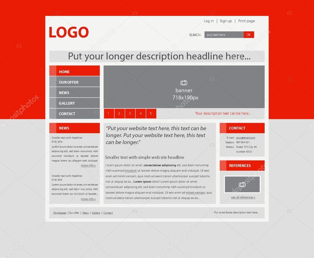 reaktionsschnelle Web Layout-Vorlage für Geschäft oder Non-Profit ...