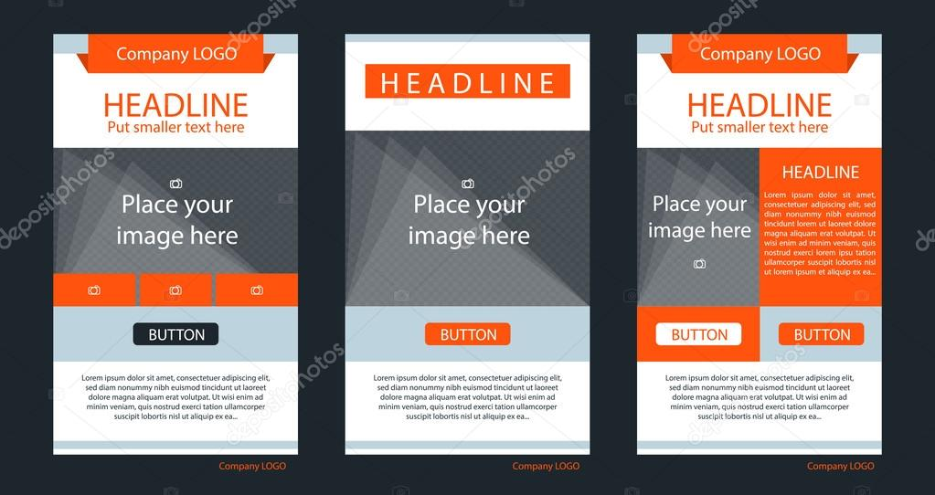 Newsletter corporate vector layout template for business or non ...