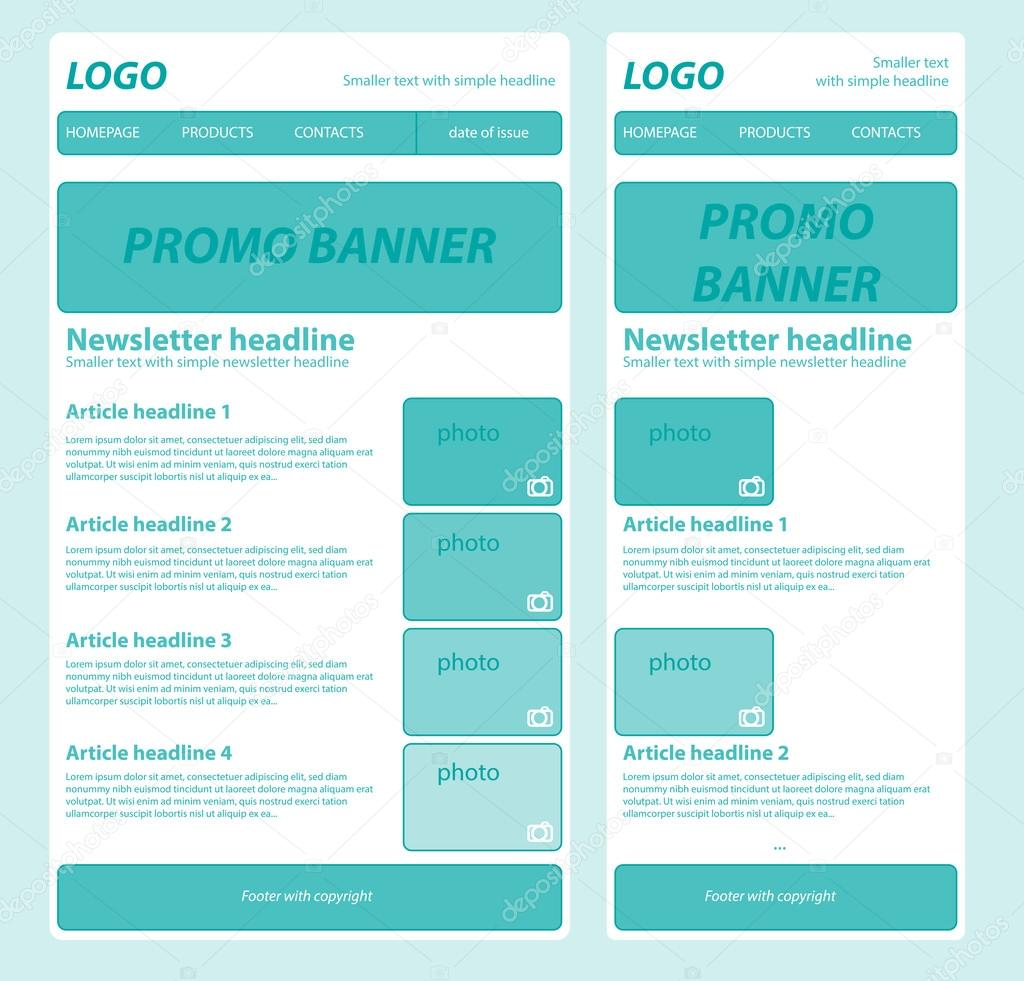 responsive newsletter template for business or non profit organi