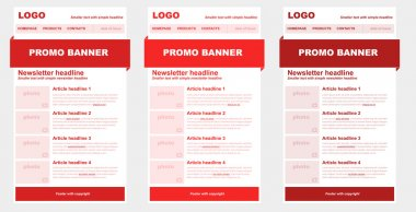 Responsive newsletter template for business or non-profit organi
