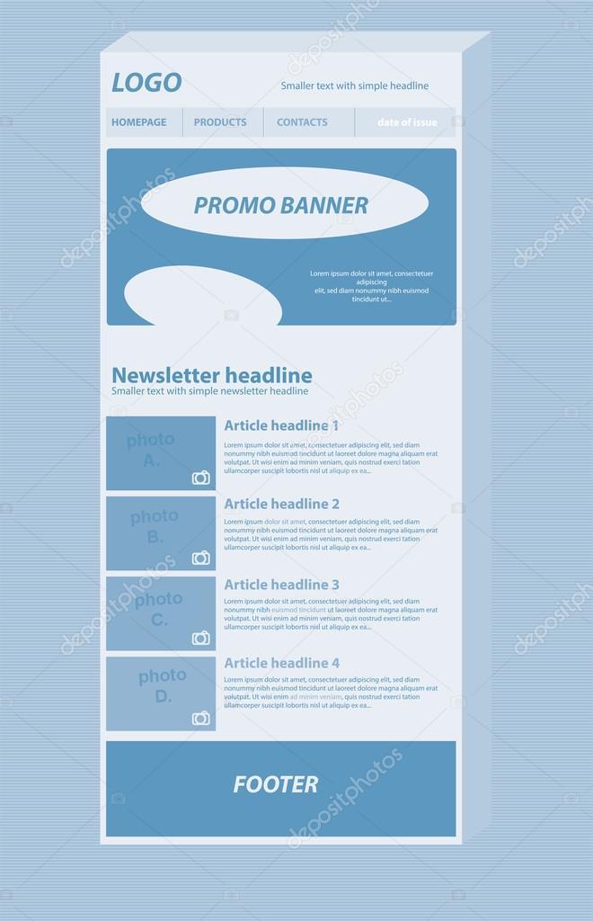 応答性の高いニュースレター レイアウト テンプレートにビジネスや非営利