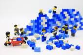 Hong Kong, 25 května: Studio záběr Lego lidí, kombinovat různé sady v Hong Kongu na 25 května 2015.Legos jsou populární řadu plastových stavebních hraček vyrábí Lego Group v Dánsku