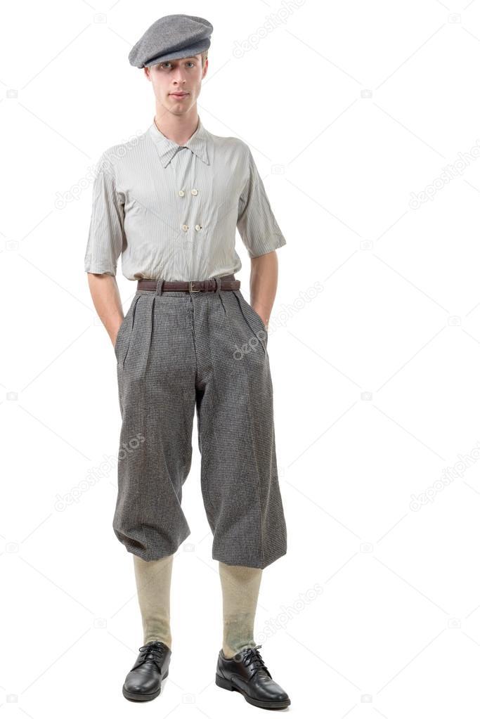 Vintage Kleding.Jonge Man Retro Stijl 40 Vintage Kleding Stockfoto C Philipimage