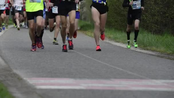 Runners feet at marathon race