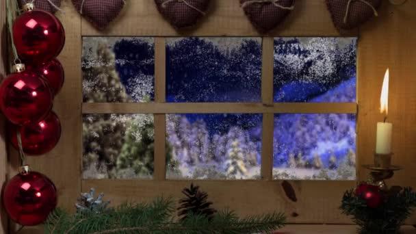Animované svátek vánoční a zimní krajina pozadí