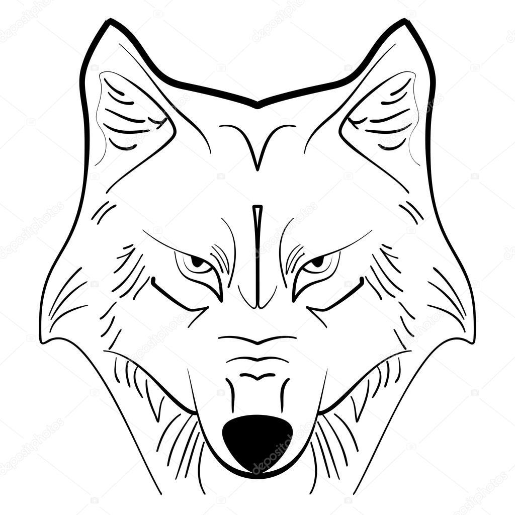 Dibujos Lobo Dibujo Cara Dibujo De Tinta De Tatuaje De Lobo