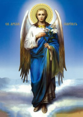 Icon of the Archangel Gabriel.