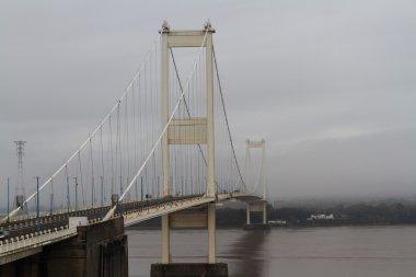 The Severn Bridge, suspension bridge connecting Wales with Engla