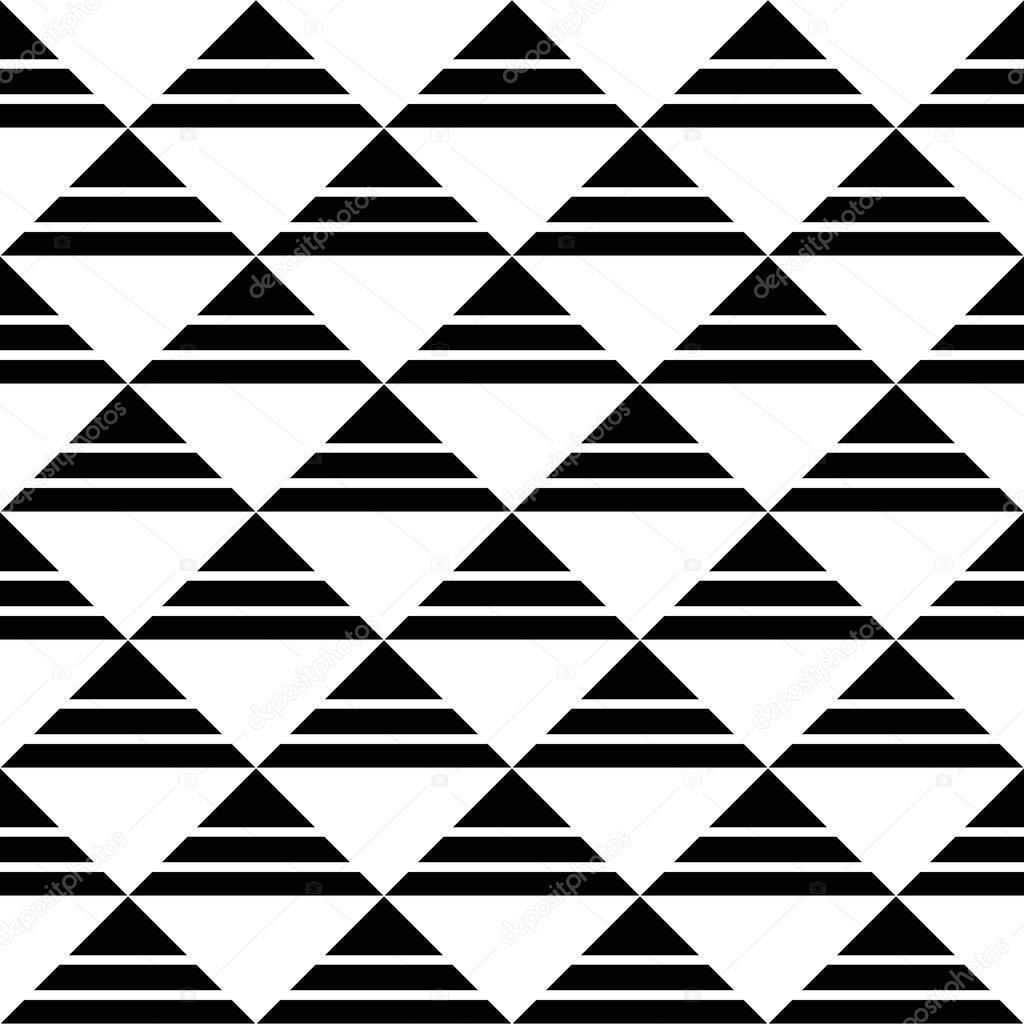 Noir Blanc Raye Motif Triangles Image Vectorielle Amovitania