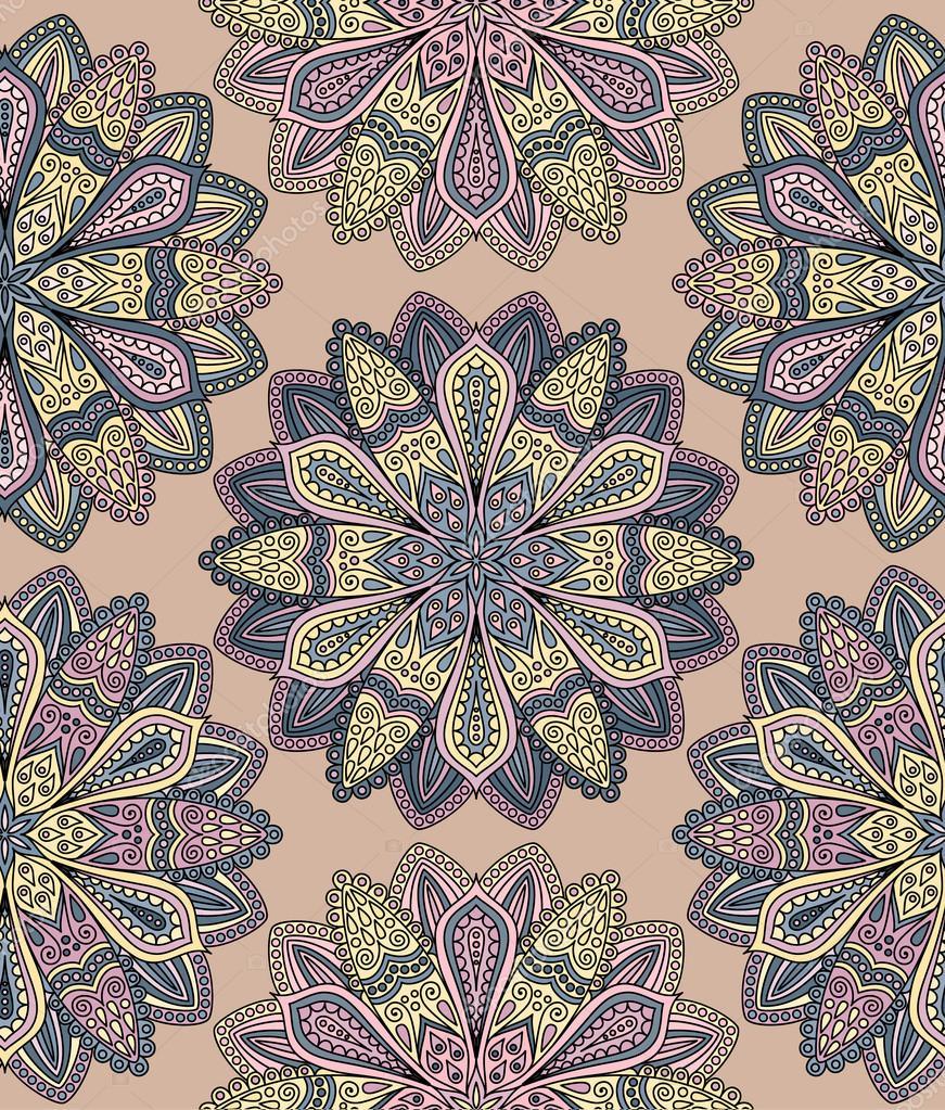 Patrón de flor intrincados — Archivo Imágenes Vectoriales ...