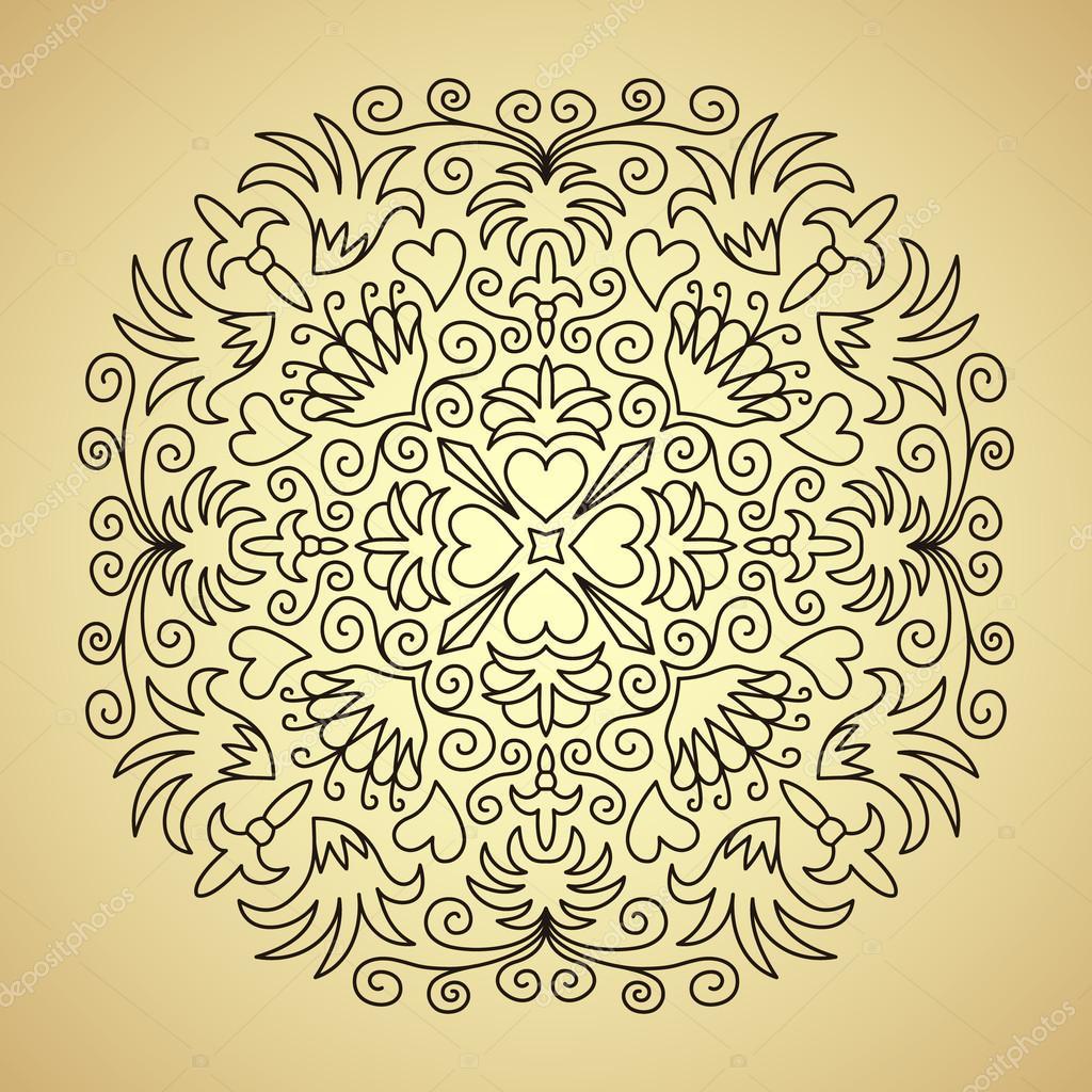 Linie-Emblem mit Blumen und Herzen — Stockvektor © amovitania #94200102