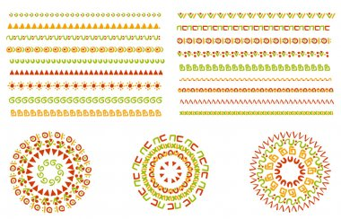 Vector set of geometric borders. Can be used as texture or frame