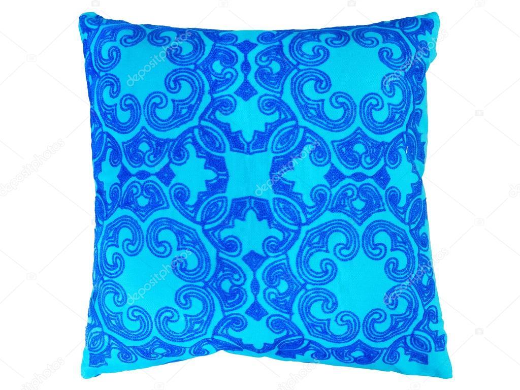 Niebieskie Poduszki Dekoracyjne Zdjęcie Stockowe