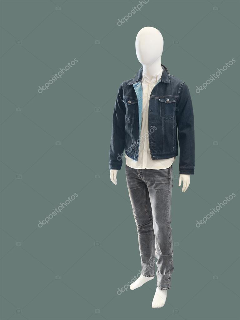 Модного одягу на чоловічий манекен — Стокове фото — Грін ... 324ff3ea8b117