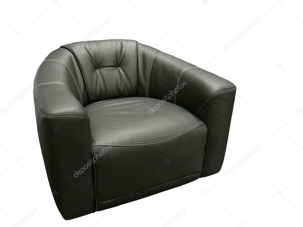 Zwarte lederen fauteuil u stockfoto modustollens