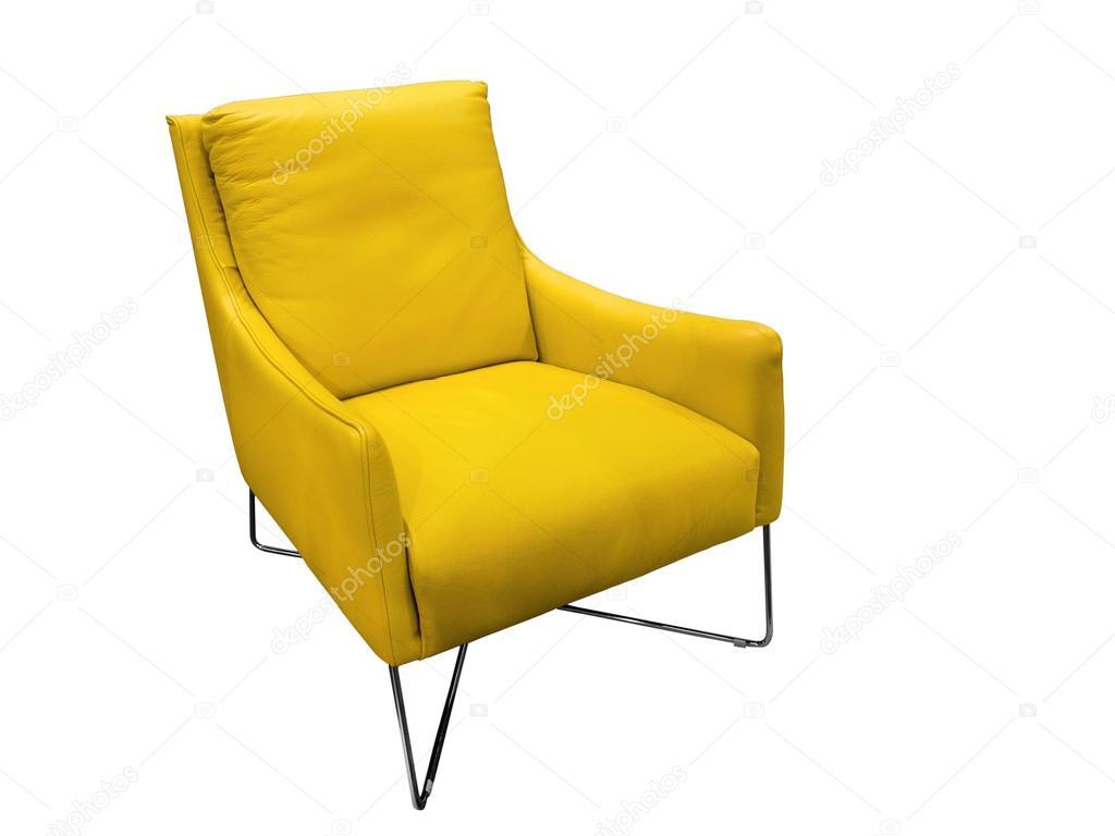 Moderne Lederen Fauteuil.Moderne Gele Lederen Fauteuil Stockfoto C Modustollens 94285632